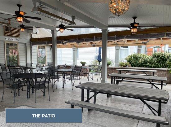 Burlington, KY: THE PATIO - enjoy lunch, dinner, or drinks on our street-side patio