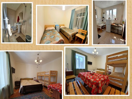 our suit for 6 people . ( 2 in our room and 4 in the next room ). It has its  own private kitchen with all compliances, bathroom, toiler,. The room is on the second floor .
