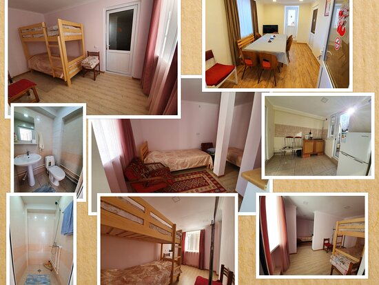 suit for 4 ( 2+2) . The room is on the 1st floor, has its own kitchen, bathroom and overlooks a beautiful garden where you can spend your time.