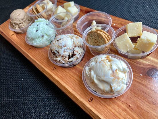 Try a flight of ice cream and/or cheese!