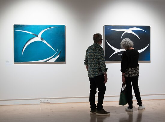 Whangārei Art Museum (WAM) hosts touring and internally curated exhibitions. Image: Paintings by Northland artist Freda Simmonds on display at the gallery.