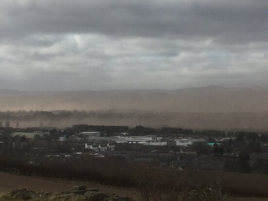 Dust Cloud Over Forfar