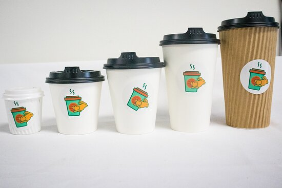 From Piccolo to Bucket coffee sizes!