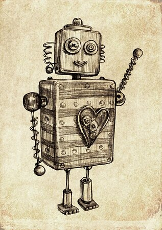 Meet Gregg, loveable Robot companion to the famous explorer, Lady Daisy Bell.