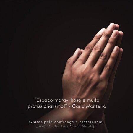 Palavras com tanto significado para nós...  Carla Monteiro, obrigado pela sua recomendação e pela preferência nos nossos serviços 🙏