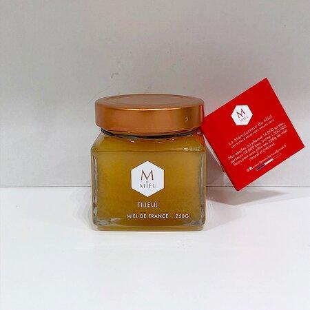 Magnifique pot de miel de Tilleul 250g