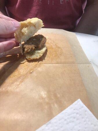 Vegan sausage biscuit. You'd never know!