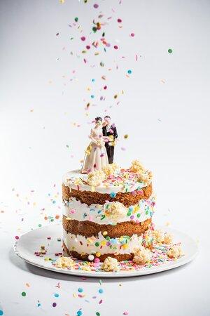 Pastel de bodas para compartir
