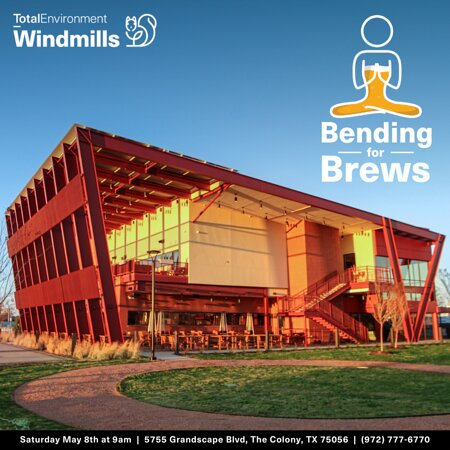 Come join us at Windmills for yoga on our lawn on Saturday, May 8th from 9-10AM. $10 entry fee gets you 1 hour of yoga plus one of our amazing beers. Find your zen with us at Windmills.
