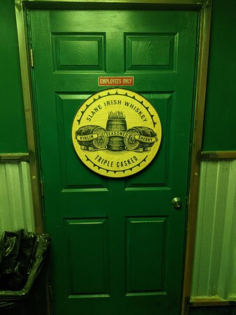 Staff only door at O'Malley's bar.