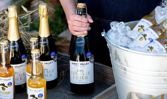 Our Sparkling Vintage cider and Castledore medium-dry session cider.