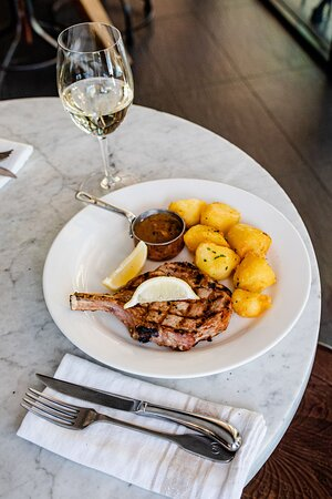 Steak with duck fat potatoes