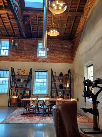Historical building with industrial boutique vibe