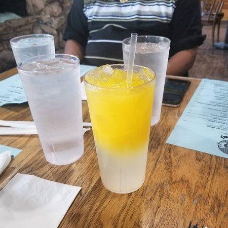 The Sunset: Lemonade mixed with Orange Juice.