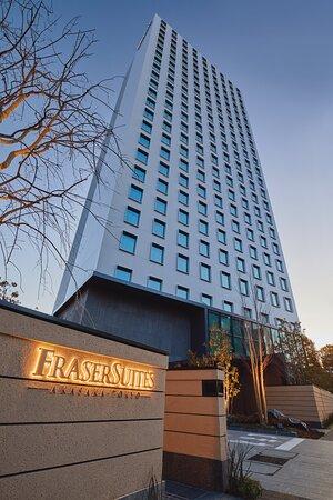 Fraser Suites Akasaka ,Tokyo Facade (evening )