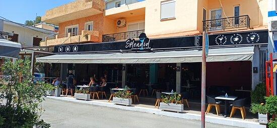 Splendid by Dimitris cocktail bar overlooking Georgioupolis Square May 2021