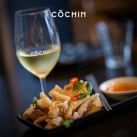 Schlumberger Pinot Blanc with Sat & Pepper Squid