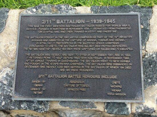 11th & 2nd 11th Battalion Sundial Memorial