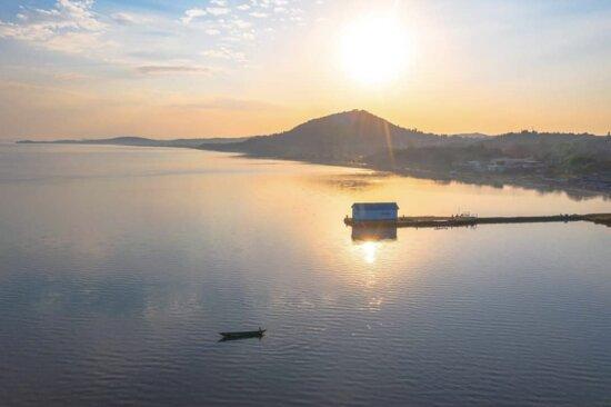 Homa Bay, קניה: Ariel view of Lake Victoria 