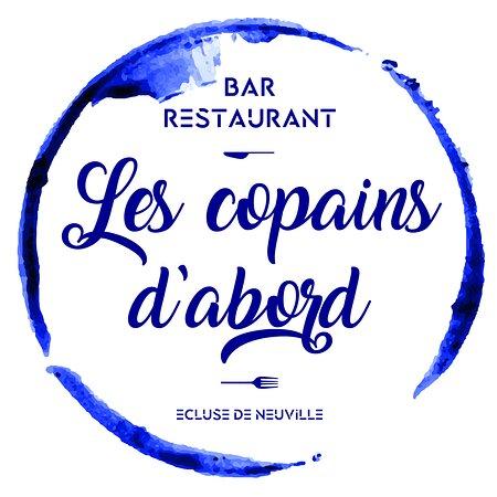 """Saint-Sulpice, França: Logo du restaurant """"Les Copains d'Abord"""""""