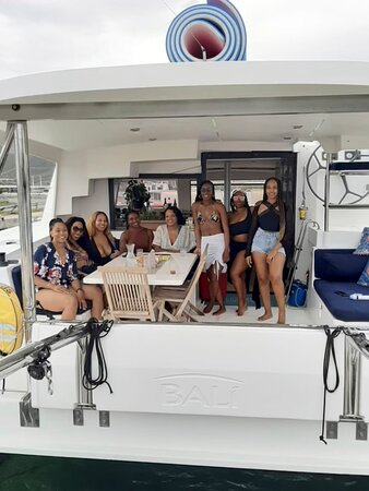 St Martin / Anguilla Private Catamaran Full Day Cruise & 4-course Gourmet Lunch: A photo before we set sail!