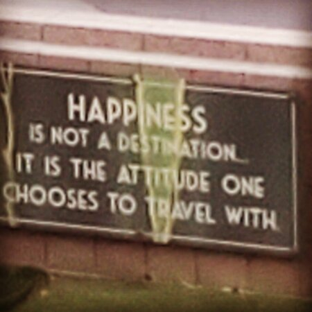 Great sign to greet you during your stay--good reminder!