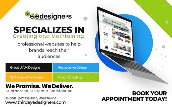 Third Eye Designers is the best Web Designing Company in Brampton. We provide Web Designing and SEO Services in Brampton and Toronto.   Book Your Appointment Today! www.thirdeyedesigners.com