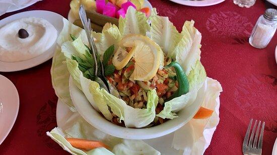 Bloudan, Syria: A very, very good Armenian Salad.