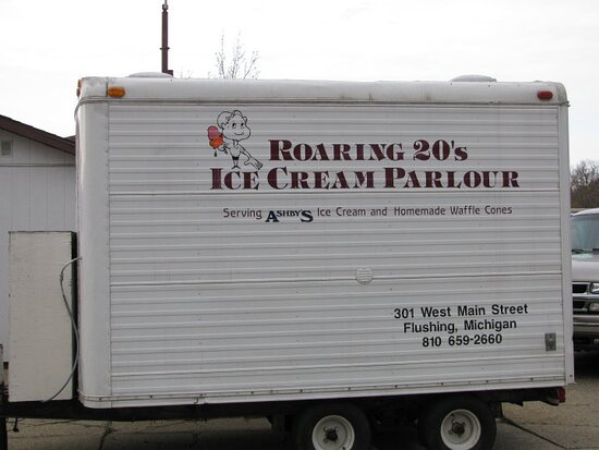 Our ice cream trailer is ready for your next event!