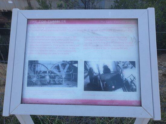 Eldorado, Austrália: info board