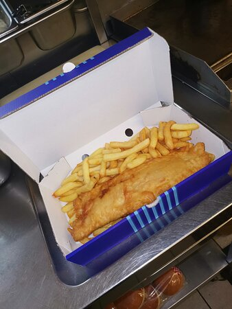 Freshly Battered fish and chips