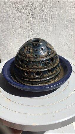 Rustic Blue Tealight holder