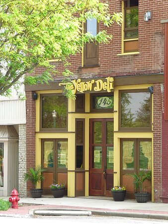 The Yellow Deli across from the courthouse on the square