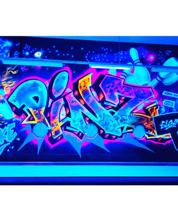 Neon Graffiti on the lanes