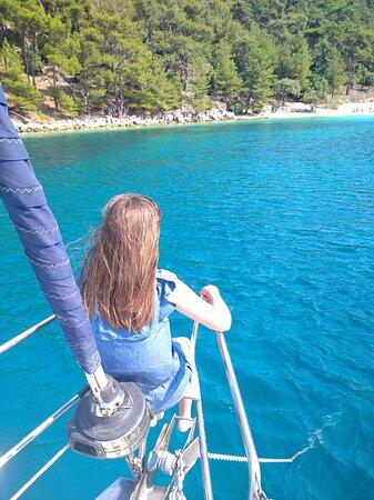 Kavala, Yunani: Short time sailing trip