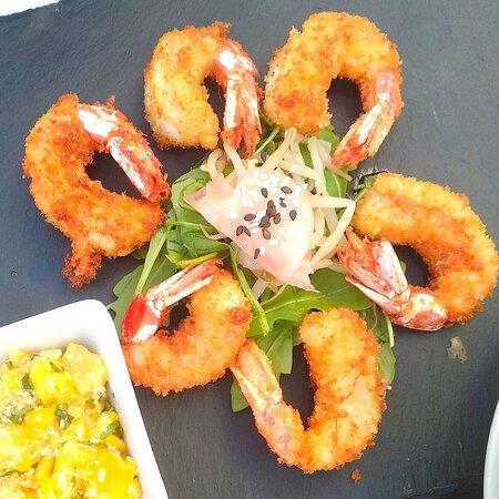 Always popular are our Caribbean prawns