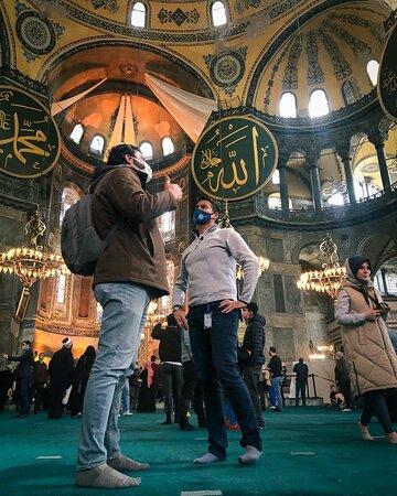 Visit to the Santa Sofia Mosque