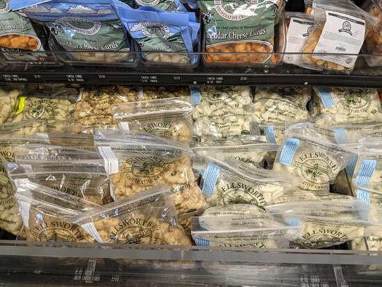 Ellsworth, WI: Cheese curds for sale at the Creamery shop