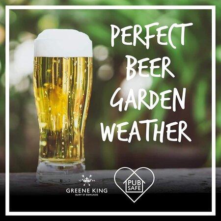 We have a beer garden