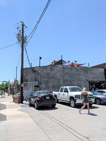 Entrance to Eastside Tavern car park.