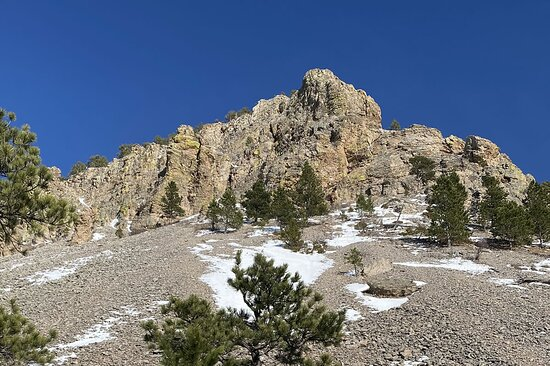 Scree field at Sundance White Ranch Park in Wyoming