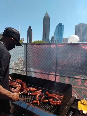 BBQing at the Cleveland NFL Draft 2021.