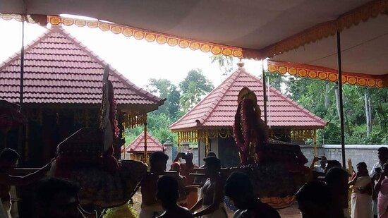 Adoor, India: Mullutharayil sree bhadra kali Devi & Kariam Kali Moorthi Devi Temple .In that era,prohibition is an important culture. Generally,the Kuruthi pooja is conducting in the Bhadrakali temple