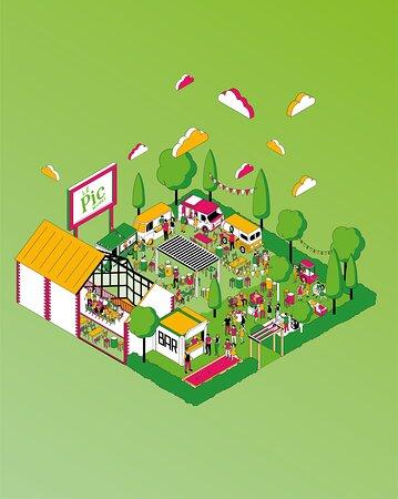 Voici enfin notre nouveau concept dévoilé ! Dés le 21/05, retrouvez le nouveau concept du PIC ! Cave à manger, food trucks, guinguette, pétanque, cave a bière, bar à cocktails, jardin, évènements... Un peu de vert, ici, un peu de rose par là, mais toujours la même ambiance pour une parenthèse verte assurée à Muret !