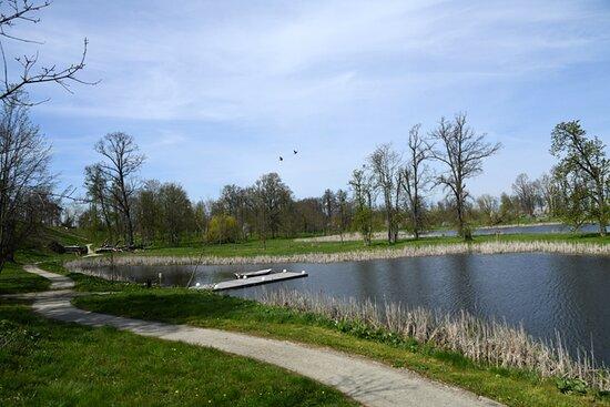 park i zbiorniki wodne, można wędkować, a nawet wypożyczyć sprzęt...