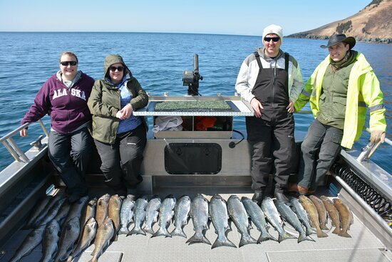 First Day's haul of King Salmon and Cod