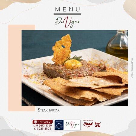 Steak tartar (com azeite trufado e cebola crypi)
