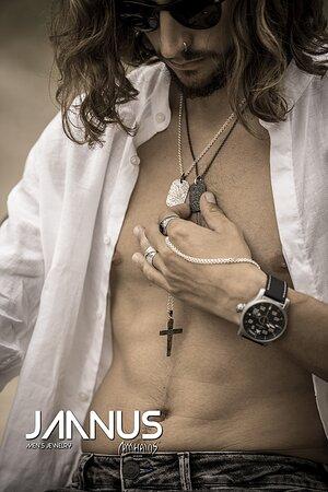 Janus men's jewelry by Matthaios art jewels