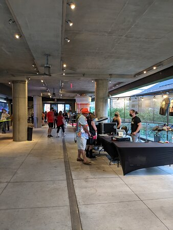 Lower entrance hallway at the Moody Theater.