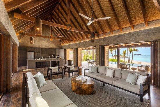 Living Area for Beachfront Pool Residence 42